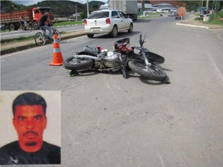 acidente com moto barra