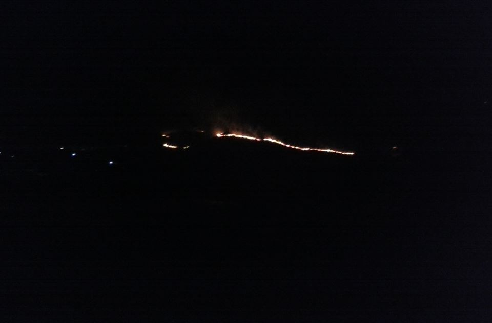 incêndio noite