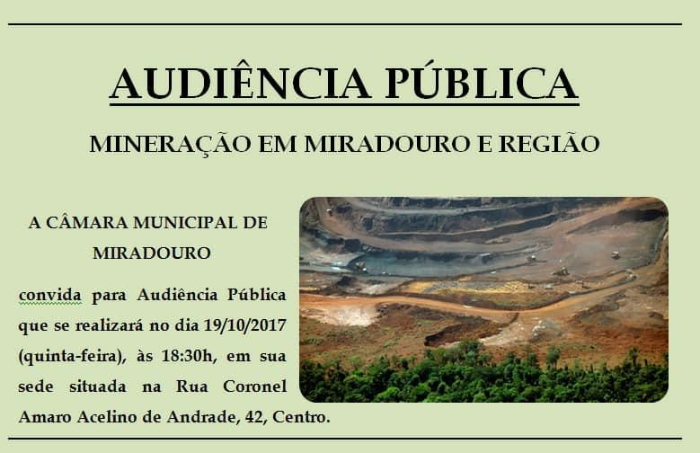 audiencia mineraçao miradouro