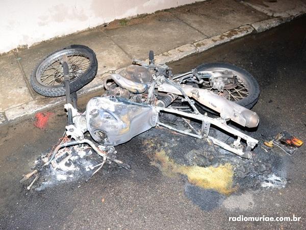 moto pegou fogo